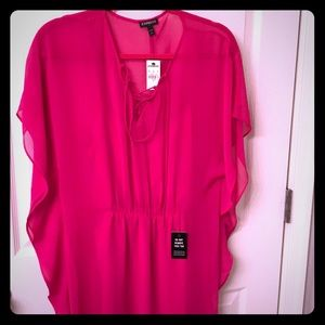 Express pink bathing suit cover up